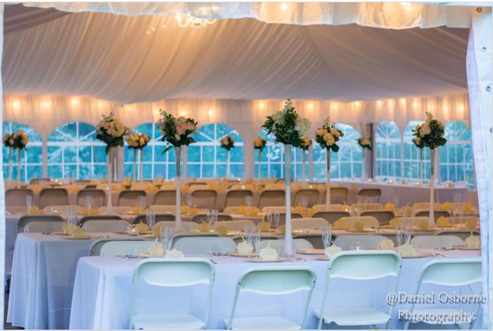 Tent set for Wedding