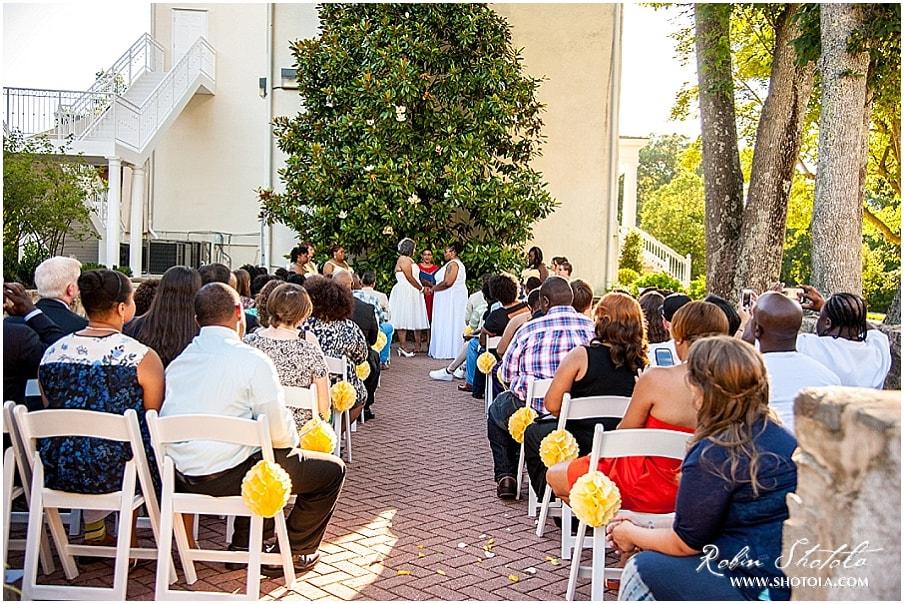 Wedding in Bishop's Garden