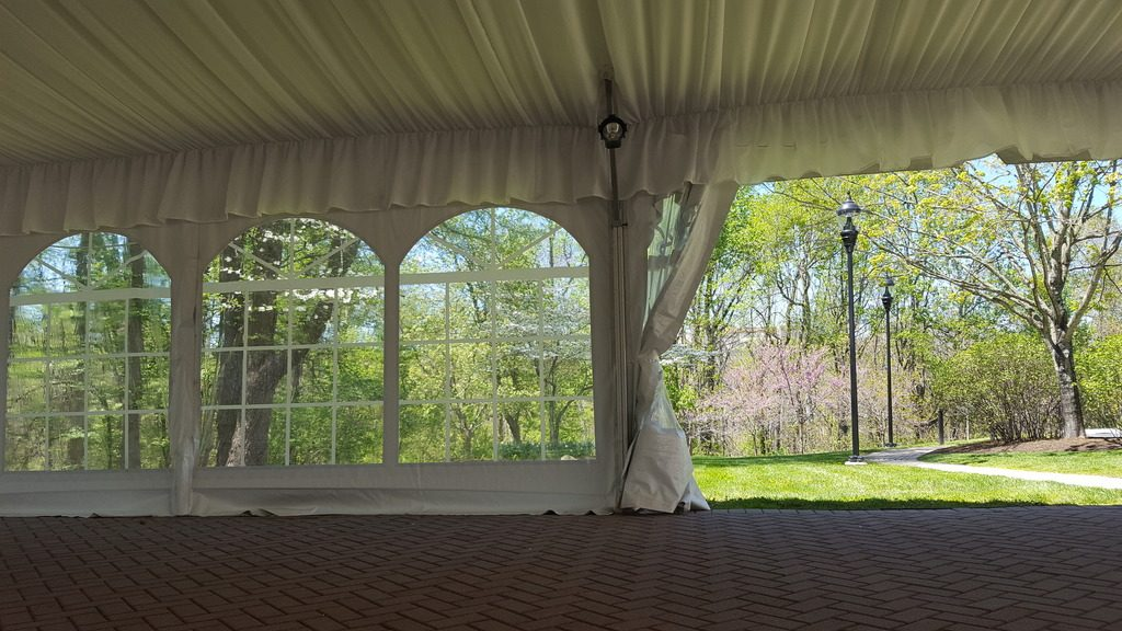 Tent looking out side